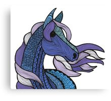 Blue Pony Canvas Print