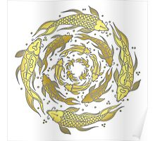 Gold Fish Flow Poster
