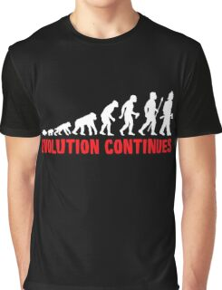 Funny Fireman Evolution Of Man Continues Graphic T-Shirt