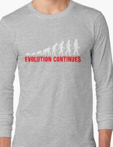Funny Fireman Evolution Of Man Continues Long Sleeve T-Shirt