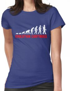 Funny Fireman Evolution Of Man Continues Womens Fitted T-Shirt