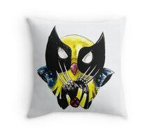 the wolverine owl Throw Pillow