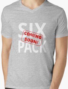 Six Pack Coming Soon Mens V-Neck T-Shirt