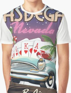 Las Vegas vintage style vacation poster Graphic T-Shirt