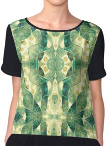 Green Forest Psychedelic Angels Chiffon Top
