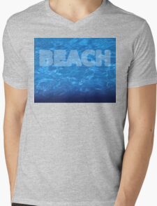 Beach 7 waves Mens V-Neck T-Shirt