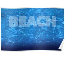 Beach 7 waves Poster