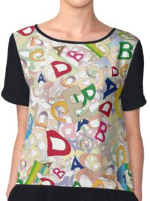 Collage of English letters Chiffon Top