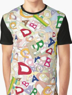 Collage of English letters Graphic T-Shirt