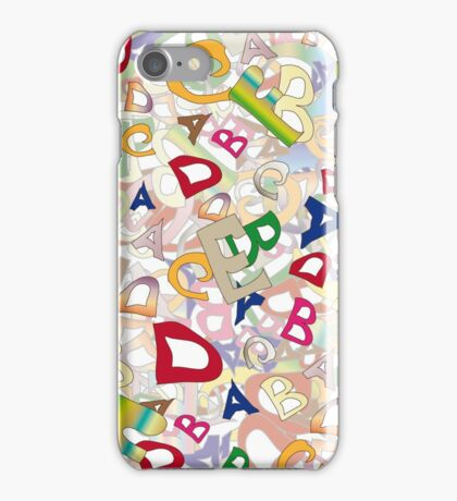 Collage of English letters iPhone Case/Skin