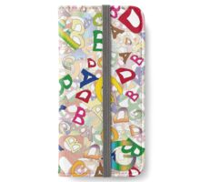 Collage of English letters iPhone Wallet/Case/Skin
