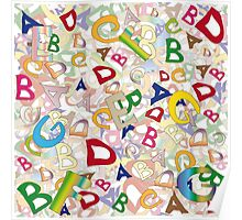 Collage of English letters Poster