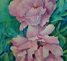 Two Peonies by Ruthsteinfatt