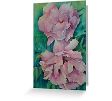 Two Peonies Greeting Card