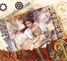 Collage - Mother and Child by Ruthsteinfatt
