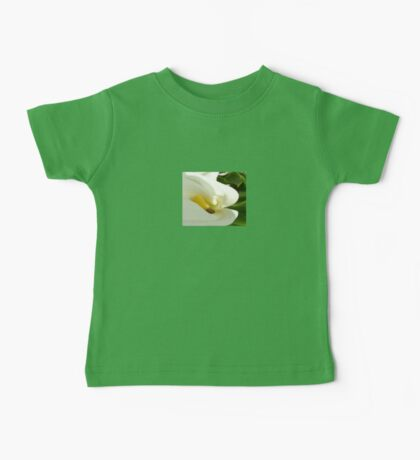 Beautiful Calla Flower On Green Natural Background  Baby Tee