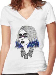 Blue is the warmest colour Women's Fitted V-Neck T-Shirt