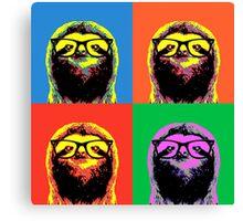 Four colors Sloth Canvas Print