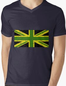 Jamaican british Flag Mens V-Neck T-Shirt