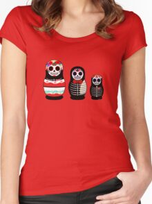 Matrioskas Día de los muertos Women's Fitted Scoop T-Shirt