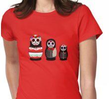 Matrioskas Día de los muertos Womens Fitted T-Shirt