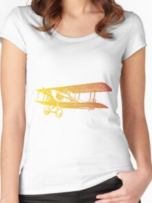 Vintage Airplane - Born to Fly 2 Women's Fitted Scoop T-Shirt