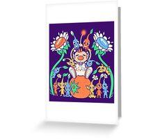 Friendly Alien Flora Greeting Card