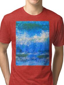 Scattered Diamonds of the Sea Tri-blend T-Shirt