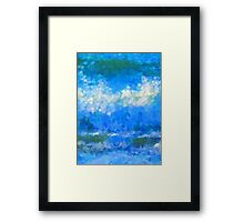 Scattered Diamonds of the Sea Framed Print
