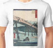 Okazaki - Hiroshige Ando - 1855 - woodcut Unisex T-Shirt