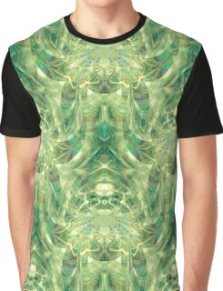 Green Dreams - psychedelic geometric  Graphic T-Shirt