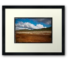 Paysage double-montage Framed Print