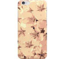 Vintage Peach Pink Cream Cherry Blossoms Illustration iPhone Case/Skin