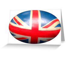 Oval Union Jack Greeting Card