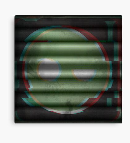 Glitched Superintendent Canvas Print