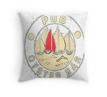 pub oyster bar Throw Pillow
