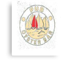 pub oyster bar Canvas Print