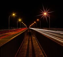 Carlights on a Bridge by VinImagery