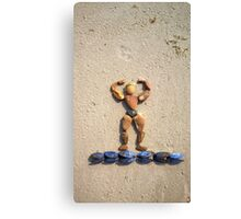 I WORKOUT! - Muscles on Mussels Canvas Print