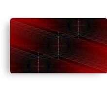 Bend it red Canvas Print