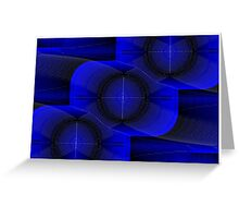 Bend it blue (Postcard version) Greeting Card