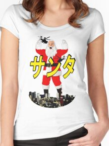 santa vs tokyo Women's Fitted Scoop T-Shirt