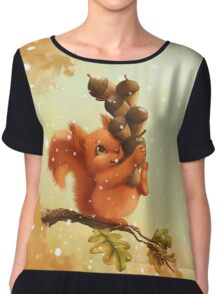 Stupid Squirrel Chiffon Top