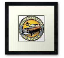 Volvo P544 Swedish Vintage Car Classic Framed Print