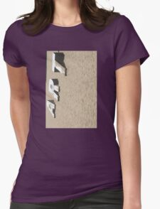 Art in the Sand Verticle Womens Fitted T-Shirt