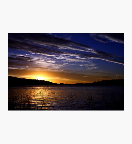SUNSET OVER THE CLARENCE RIVER Photographic Print