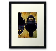 Double Nature Of Owls Framed Print