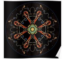 Mandala - 0013 - The Raven and the Sea and the Stars Plate Poster