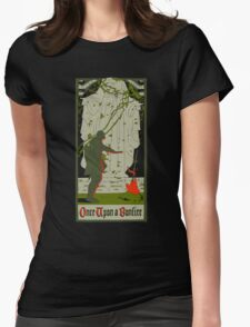 Once upon a bonfire Womens Fitted T-Shirt