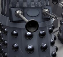 dalek doctor who black and white Sticker